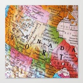 Canada Map Canvas Print