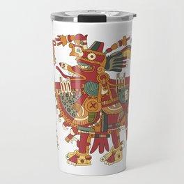 Aztec Inca God Graphic Travel Mug