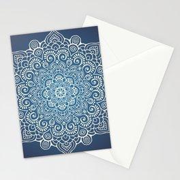 Mandala dark blue Stationery Cards