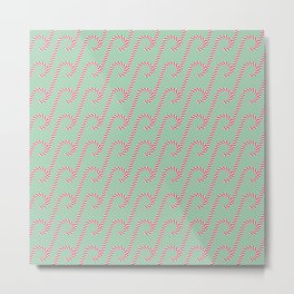 Candy cane pattern 4a Metal Print