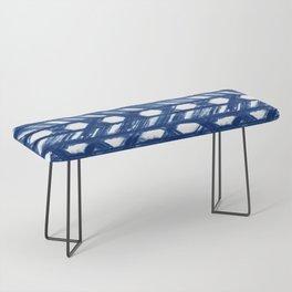 Shibori Lattice Bench