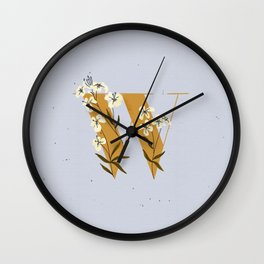 W for Wallflower Wall Clock
