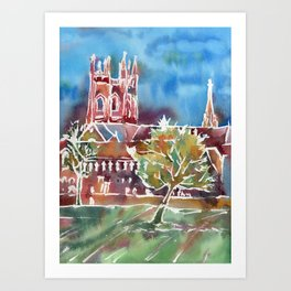 Autumn in Oxford Art Print