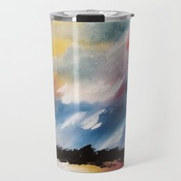 Moody Sunset, Dark Sunset, Abstract Sunset, Seascape, Sunscape, Skyscape Travel Mug