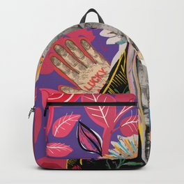 Collage Pop Art Esoteric and French Vintage Singer  Backpack