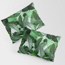 Banana palm leaf tropical jungle green Pillow Sham
