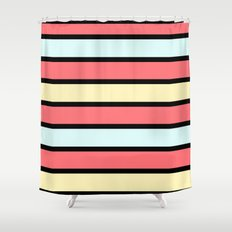 Color band 70's - Formica Stripe Shower Curtain