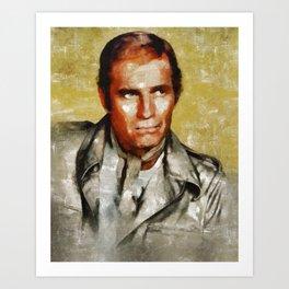 Charlton Heston by MB Art Print
