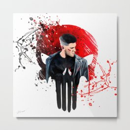 Punisher splatter art Metal Print