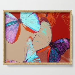Butterflies in different colors Serving Tray