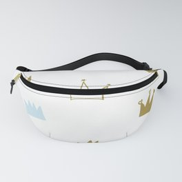 Hand Drawn Crown. Seamless Baby Boy Wallpaper Fanny Pack