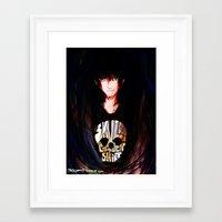 nico di angelo Framed Art Prints featuring Nico di Angelo by TreyCain03