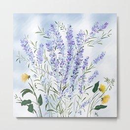Lavender Meadow - Impression Metal Print