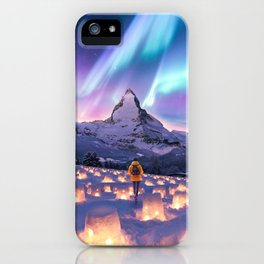 Snow Lanterns iPhone Case