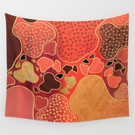 Terracotta Coral Terrazzo Wall Tapestry