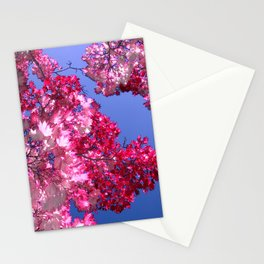 pink tree XI Stationery Cards