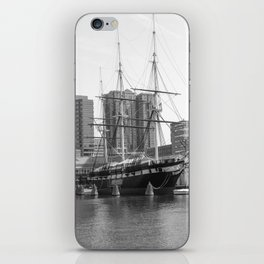 A US Frigate Ship in Baltimore, MD iPhone Skin
