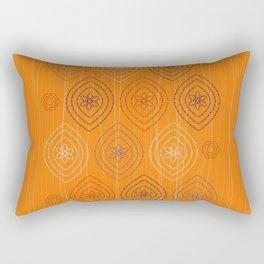 Moroccan silk in orange Rectangular Pillow