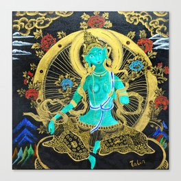 Thang-ga of Green Tara Canvas Print
