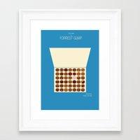 forrest gump Framed Art Prints featuring Forrest Gump by Tommaso Valsecchi