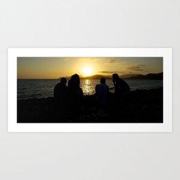 Sunset Gang Art Print