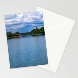 Sailing boats harbor Stationery Cards