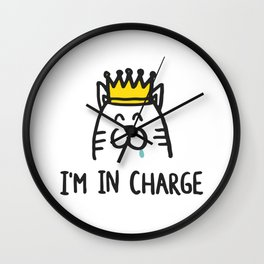 I'm in charge Wall Clock