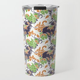 Decorative batik flower pattern Travel Mug