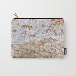 Rust Detail Stone // Unique Textured Naturally Made Material Rocky Accent Carry-All Pouch