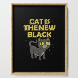 Cat is the New Black Serving Tray