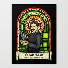 Tesla: The Electric Jesus Canvas Print