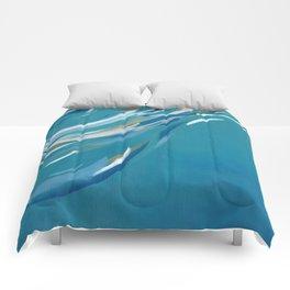 Turquoise abstract underwater Comforters