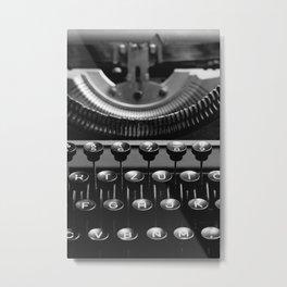 Typewriter No.4 Metal Print