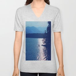Blue Mountain Lake Unisex V-Neck