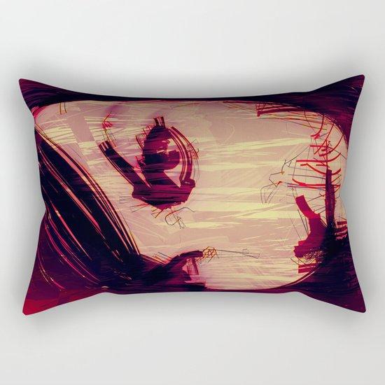 Strange Girl Rectangular Pillow