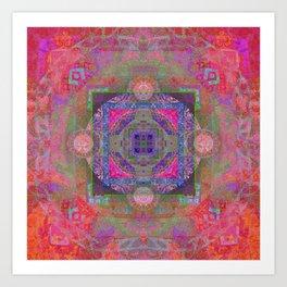 Luminous Boho Mandala Art Print