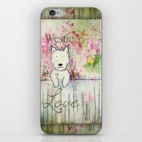 westie iPhone & iPod Skins featuring  Westie Love ~ West Highland Terrier ~ Ginkelmier by Ginkelmier