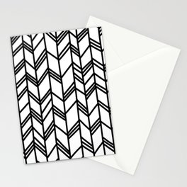 Tribal Arrow Pattern - White Background Stationery Cards
