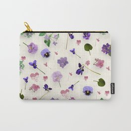 Delicate Violets Carry-All Pouch