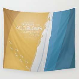 The 400 Blows, les Quatre cents coups, François Truffaut, minimalist movie poster, Jean-Pierre Léaud Wall Tapestry