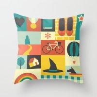 oz Throw Pillows featuring Oz by Ariel Wilson