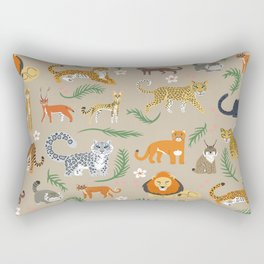 Exotic Cats Rectangular Pillow