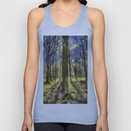 Peaceful Forest Van Gogh Unisex Tank Top