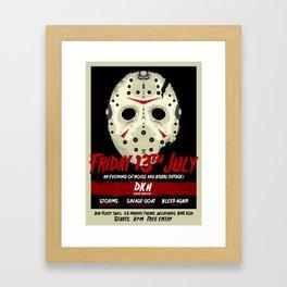 FortyTwo - Poster (Friday 13th July) Framed Art Print