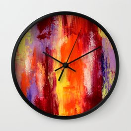 Palette knife paiting Wall Clock