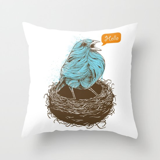 Twisty Bird Throw Pillow