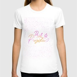 Pride & Prejudice Quotes T-shirt