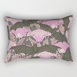 VINTAGE BATS & PINK LILIES ART Rectangular Pillow