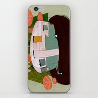 camping iPhone & iPod Skins featuring Camping by Arrolynn