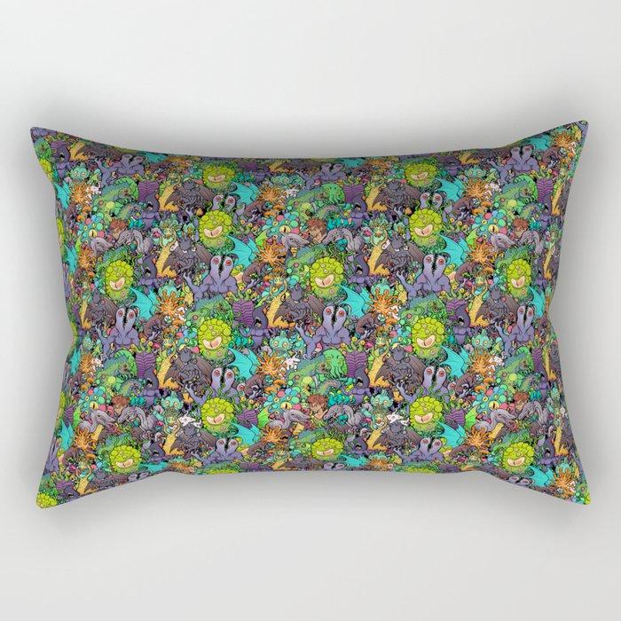 Lovecraft Chibi Bestiary II Crowded ver Rectangular Pillow